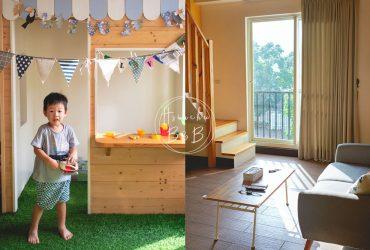 新竹民宿|大坪數、兒童遊戲區、挑高小閣樓和手工早餐,藏在北埔田野的歐風小屋|歐佳家民宿