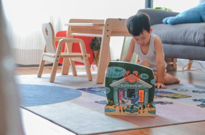 幼兒益智玩具推薦,訓練手眼協調和建立基礎美感|美國Crocodile Creek 博物館拼圖