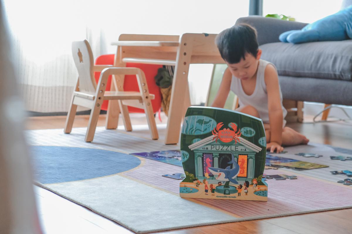 幼兒益智玩具推薦,訓練手眼協調和建立基礎美感 美國Crocodile Creek 博物館拼圖